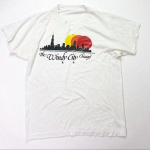 Vintage The Windy City Shirt Chicago Graphic Tee